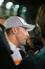 World © Octane Photographic Ltd. Saturday 20th September 2014, Singapore Grand Prix, Marina Bay. - Formula 1 Qualifying Parc Ferme. McLaren Mercedes MP4/29 - Jenson Button. Digital Ref: 1125LB1D2858
