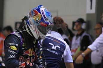 World © Octane Photographic Ltd. Saturday 20th September 2014, Singapore Grand Prix, Marina Bay. - Formula 1 Qualifying Parc Ferme. Infiniti Red Bull Racing RB10 – Daniel Ricciardo. Digital Ref: 1125LB1D2889