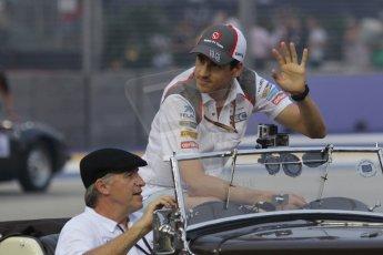 World © Octane Photographic Ltd. Saturday 20th September 2014, Singapore Grand Prix, Marina Bay. - Formula 1 Drivers' Parade. Sauber C33 – Adrian Sutil. Digital Ref: 1127CB1D0930