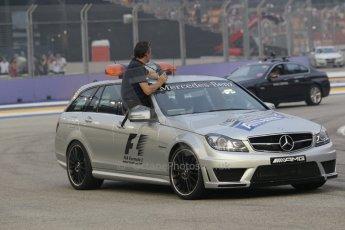 World © Octane Photographic Ltd. Sunday 21st September 2014, Singapore Grand Prix, Marina Bay. - Formula 1 Medical Car - Mercedes C63 AMG Estate. Digital Ref: 1127CB1D0961