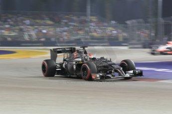 World © Octane Photographic Ltd. Saturday 20th September 2014, Singapore Grand Prix, Marina Bay. - Formula 1 Race outlap. Sauber C33 – Adrian Sutil. Digital Ref: 1127CB1D1042