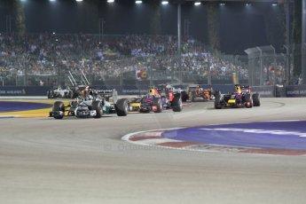 World © Octane Photographic Ltd. Sunday 21st September 2014, Singapore Grand Prix, Marina Bay. - Formula 1 Race formation lap. Digital Ref: 1127CB1D1114