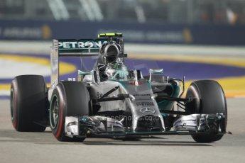 World © Octane Photographic Ltd. Sunday 21st September 2014, Singapore Grand Prix, Marina Bay. - Formula 1 Race. Mercedes AMG Petronas F1 W05 - Nico Rosberg. Digital Ref: