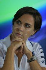 World © Octane Photographic Ltd. Friday 19th September 2014, Singapore Grand Prix, Marina Bay. - Formula 1 Team Personnel Press Conference - Williams Martini Racing - Claire Williams. Digital Ref: