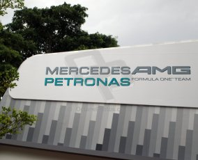 World © Octane Photographic Ltd. Saturday 20th September 2014, Singapore Grand Prix, Marina Bay. Formula 1 Paddock. Mercedes AMG Petronas. Digital Ref: 1122CB1D8173
