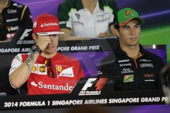 World © Octane Photographic Ltd. Thursday 18th September 2014, Singapore Grand Prix, Marina Bay. - Formula 1 Driver's conference. Scuderia Ferrari F14T – Kimi Raikkonen. Digital Ref: 1117CB1D6950