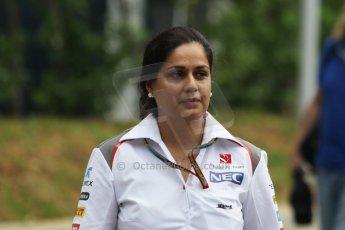 World © Octane Photographic Ltd. Thursday 18th September 2014, Singapore Grand Prix, Marina Bay. - Formula 1 Paddock. Sauber F1 Team - Monisha Kaltenborn. Digital Ref: 1116CB1D6718