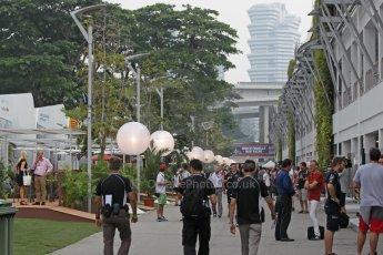 World © Octane Photographic Ltd. Thursday 18th September 2014, Singapore Grand Prix, Marina Bay. - Formula 1 Paddock. Digital Ref: 1116CB1D6747
