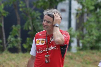 World © Octane Photographic Ltd. Thursday 18th September 2014, Singapore Grand Prix, Marina Bay. - Formula 1 Paddock. Scuderia Ferrari - Marco Mattiacci. Digital Ref: 1116CB1D6793