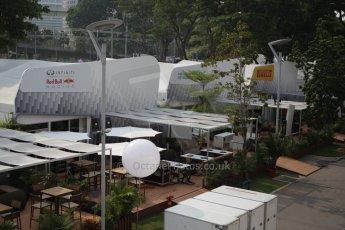 World © Octane Photographic Ltd. Wednesday 17th September 2014, Singapore Grand Prix, Marina Bay. Formula 1 Setup and atmosphere. The paddock. Digital Ref: 1115CB1D6384