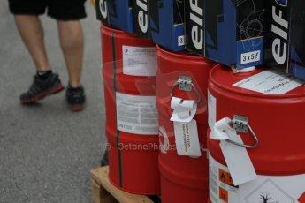 World © Octane Photographic Ltd. Wednesday 17th September 2014, Singapore Grand Prix, Marina Bay. Formula 1 Setup and atmosphere. Lotus F1 Team Total fuel being delivered. Digital Ref: 1115CB1D6423