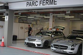 World © Octane Photographic Ltd. Wednesday 17th September 2014, Singapore Grand Prix, Marina Bay. Formula 1 Setup and atmosphere. Mercedes SLS AMG GT Safety car and C63 AMG Medical car. and Digital Ref: 1115CB1D6443