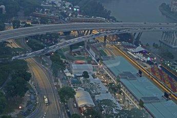 World © Octane Photographic Ltd. Wednesday 17th September 2014, Singapore Grand Prix, Marina Bay. Formula 1 Setup and atmosphere. The paddock. Digital Ref: 1115CB6612