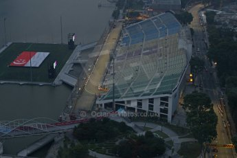 World © Octane Photographic Ltd. Wednesday 17th September 2014, Singapore Grand Prix, Marina Bay. Formula 1 Setup and atmosphere. Turns 17 and 18. Digital Ref: 1115CB6618