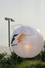 World © Octane Photographic Ltd. Wednesday 17th September 2014, Singapore Grand Prix, Marina Bay. Formula 1 Setup and atmosphere. F1 Balloon decoration. Digital Ref: 1115LB1D8680