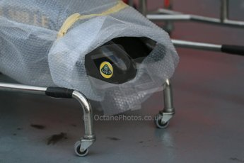 World © Octane Photographic Ltd. Wednesday 17th September 2014, Singapore Grand Prix, Marina Bay. Formula 1 Setup and atmosphere. Lotus F1 team new noses wrapped for delivery. Digital Ref: 1115LB1D8684