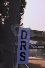 World © Octane Photographic Ltd. Wednesday 17th September 2014, Singapore Grand Prix, Marina Bay. Formula 1 Setup and atmosphere. DRS activation zone after turn 5. Digital Ref: 1115LB1D8759