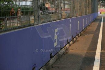 World © Octane Photographic Ltd. Wednesday 17th September 2014, Singapore Grand Prix, Marina Bay. Formula 1 Setup and atmosphere. Singapore trackside sign-writing. Digital Ref: 1115LB1D8766