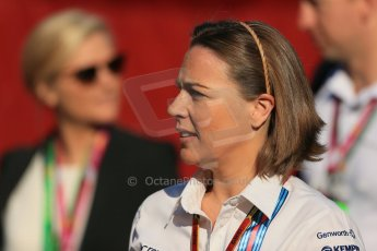 World © Octane Photographic Ltd. Friday 9th May 2014. Circuit de Catalunya - Spain - Formula 1 Paddock. Williams Martini Racing  - Claire Williams. Digital Ref: