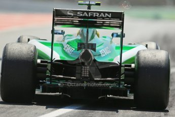 World © Octane Photographic Ltd. Friday 9th May 2014. Circuit de Catalunya - Spain - Formula 1 Practice 2 pitlane. Caterham F1 Team CT05 – Marcus Ericsson. Digital Ref:
