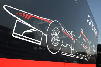 World © Octane Photographic Ltd. Friday 9th May 2014. GP2 Practice – Circuit de Catalunya, Barcelona, Spain. Rapax logo. Digital Ref : 0927cb7d8702