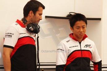 World © Octane Photographic Ltd. Friday 9th May 2014. GP2 Practice – Circuit de Catalunya, Barcelona, Spain. Takuya Izawa - ART Grand Prix. Digotal Ref : 0927cb7d8756