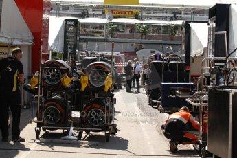 World © Octane Photographic Ltd. Friday 9th May 2014. GP2 Practice – Circuit de Catalunya, Barcelona, Spain. GP2 paddock. Digital Ref : 0927cb7d8791