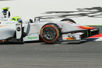World © Octane Photographic Ltd. Friday 9th May 2014. GP2 Practice – Circuit de Catalunya, Barcelona, Spain. Kimiya Sato - Campos Racing. Digital Ref : 0927lb1d4714