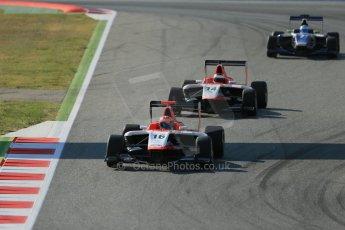 World © Octane Photographic Ltd. Friday 9th May 2014. GP3 Practice  – Circuit de Catalunya, Barcelona, Spain. Dean Stoneman and Patrick Kujala - Marussia Manor Racing. Digital Ref :