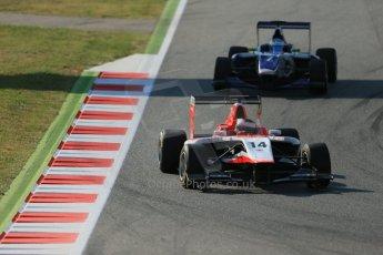 World © Octane Photographic Ltd. Friday 9th May 2014. GP3 Practice  – Circuit de Catalunya, Barcelona, Spain. Patrick Kujala - Marussia Manor Racing and Carmen Jorda - Koiranen GP. Digital Ref :