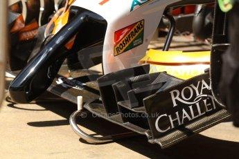 World © Octane Photographic Ltd. Friday 9th May 2014. Circuit de Catalunya - Spain - Formula 1 Practice 1 pitlane. Sahara Force India VJM07. Digital Ref: