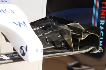 World © Octane Photographic Ltd. Friday 9th May 2014. Circuit de Catalunya - Spain - Formula 1 Practice 1 pitlane. Williams Martini Racing FW36 - Felipe Nasr. Digital Ref: