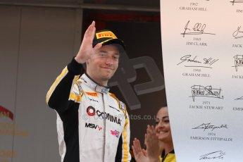 World © Octane Photographic Ltd. Saturday 10th May 2014. GP2 Race 1 Podium – Circuit de Catalunya, Barcelona, Spain. Jolyon Palmer - DAMS (2nd). Digital Ref :