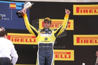 World © Octane Photographic Ltd. Saturday 10th May 2014. GP2 Race 1 Podium – Circuit de Catalunya, Barcelona, Spain. Felipe Nasr - Carlin (3rd). Digital Ref :