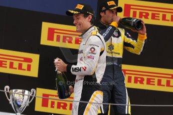 World © Octane Photographic Ltd. Saturday 10th May 2014. GP2 Race 1 Podium – Circuit de Catalunya, Barcelona, Spain. Jolyon Palmer - DAMS (2nd) and Felipe Nasr - Carlin (3rd). Digital Ref :
