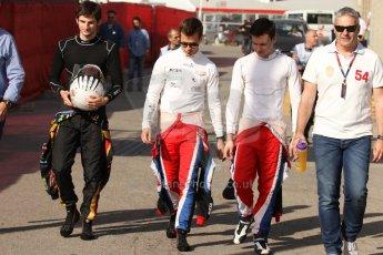 World © Octane Photographic Ltd. Saturday 10th May 2014. GP3 Qualifying – Circuit de Catalunya, Barcelona, Spain. Alex Fontana of ART Grand Prix and Patric Niederhauser  and Robert Visoiu of Arden International. Digital Ref :