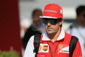 World © Octane Photographic Ltd. Saturday 10th May 2014. Circuit de Catalunya - Spain - Formula 1 Paddock. Scuderia Ferrari F14T - Fernando Alonso. Digital Ref: 0933lb1d6541