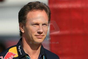 World © Octane Photographic Ltd. Saturday 10th May 2014. Circuit de Catalunya - Spain - Formula 1 Practice 3. Infiniti Red Bull Racing RB10 -  Christian Horner. Digital Ref:  0933lb1d6565