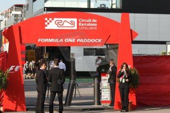 World © Octane Photographic Ltd. Saturday 10th May 2014. Circuit de Catalunya - Spain - Formula 1 Paddock Entrance. Digital Ref: 0935cb7d9421