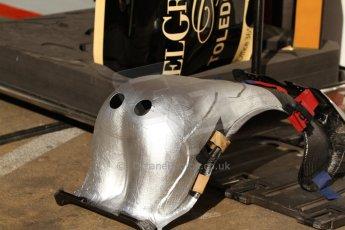 World © Octane Photographic Ltd. Saturday 10th May 2014. Circuit de Catalunya - Spain - Formula 1 Practice 3. Lotus F1 Team E22 – Pastor Maldonado seat. Digital Ref: 0935cb7d9603