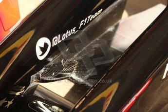 World © Octane Photographic Ltd. Saturday 10th May 2014. Circuit de Catalunya - Spain - Formula 1 Practice 3. Lotus F1 Team E22 – Front wing details. Digital Ref: 0935cb7d9605