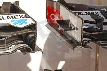 World © Octane Photographic Ltd. Saturday 10th May 2014. Circuit de Catalunya - Spain - Formula 1 Practice 3. Sauber C33 – Wing detail. Digital Ref: 0935cb7d9610