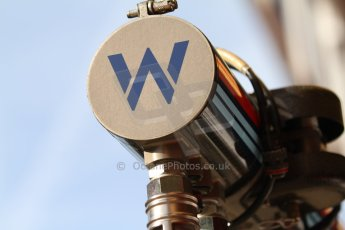 World © Octane Photographic Ltd. Saturday 10th May 2014. Circuit de Catalunya - Spain - Formula 1 Practice 3. Williams Martini Racing FW36 - Overhead gantry. Digital Ref: 0935cb7d9614