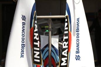 World © Octane Photographic Ltd. Saturday 10th May 2014. Circuit de Catalunya - Spain - Formula 1 Practice 3. Williams Martini Racing FW36 – Engine Covers. Digital Ref: 0935cb7d9615