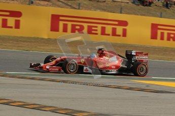 World © Octane Photographic Ltd. Saturday 10th May 2014. Circuit de Catalunya - Spain - Formula 1 Practice 3. Scuderia Ferrari F14T - Fernando Alonso. Digital Ref: 0935lb1d3470
