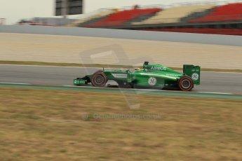 World © Octane Photographic Ltd. Saturday 10th May 2014. Circuit de Catalunya - Spain - Formula 1 Practice 3. Caterham F1 Team CT05 – Kamui Kobayashi. Digital Ref: 0935lb1d3781