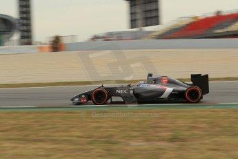 World © Octane Photographic Ltd. Saturday 10th May 2014. Circuit de Catalunya - Spain - Formula 1 Practice 3. Sauber C33 – Adrian Sutil. Digital Ref: 0935lb1d3802