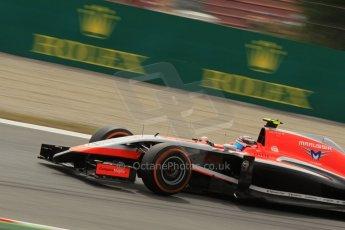 World © Octane Photographic Ltd. Saturday 10th May 2014. Circuit de Catalunya - Spain - Formula 1 Practice 3. Marussia F1 Team MR03 - Max Chilton. Digital Ref: 0935lb1d3865
