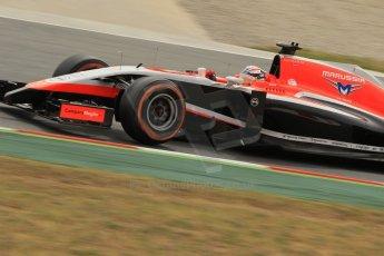 World © Octane Photographic Ltd. Saturday 10th May 2014. Circuit de Catalunya - Spain - Formula 1 Practice 3. Marussia F1 Team MR03 - Jules Bianchi. Digital Ref: 0935lb1d3898
