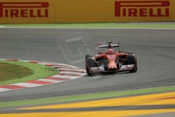 World © Octane Photographic Ltd. Saturday 10th May 2014. Circuit de Catalunya - Spain - Formula 1 Practice 3. Scuderia Ferrari F14T – Kimi Raikkonen. Digital Ref: 0935lb1d7171